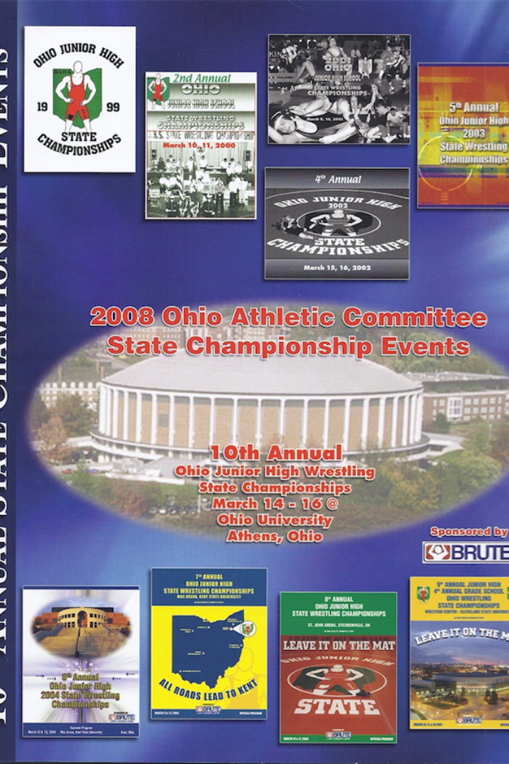 2008 OAC Championships- 138lb Felipe Martinez vs Michael Baker