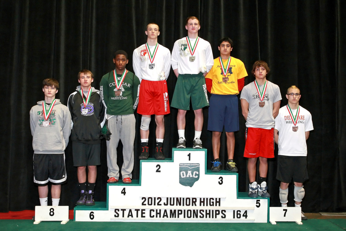 Ohio Junior High State Wrestling Placers 2006 to 2017