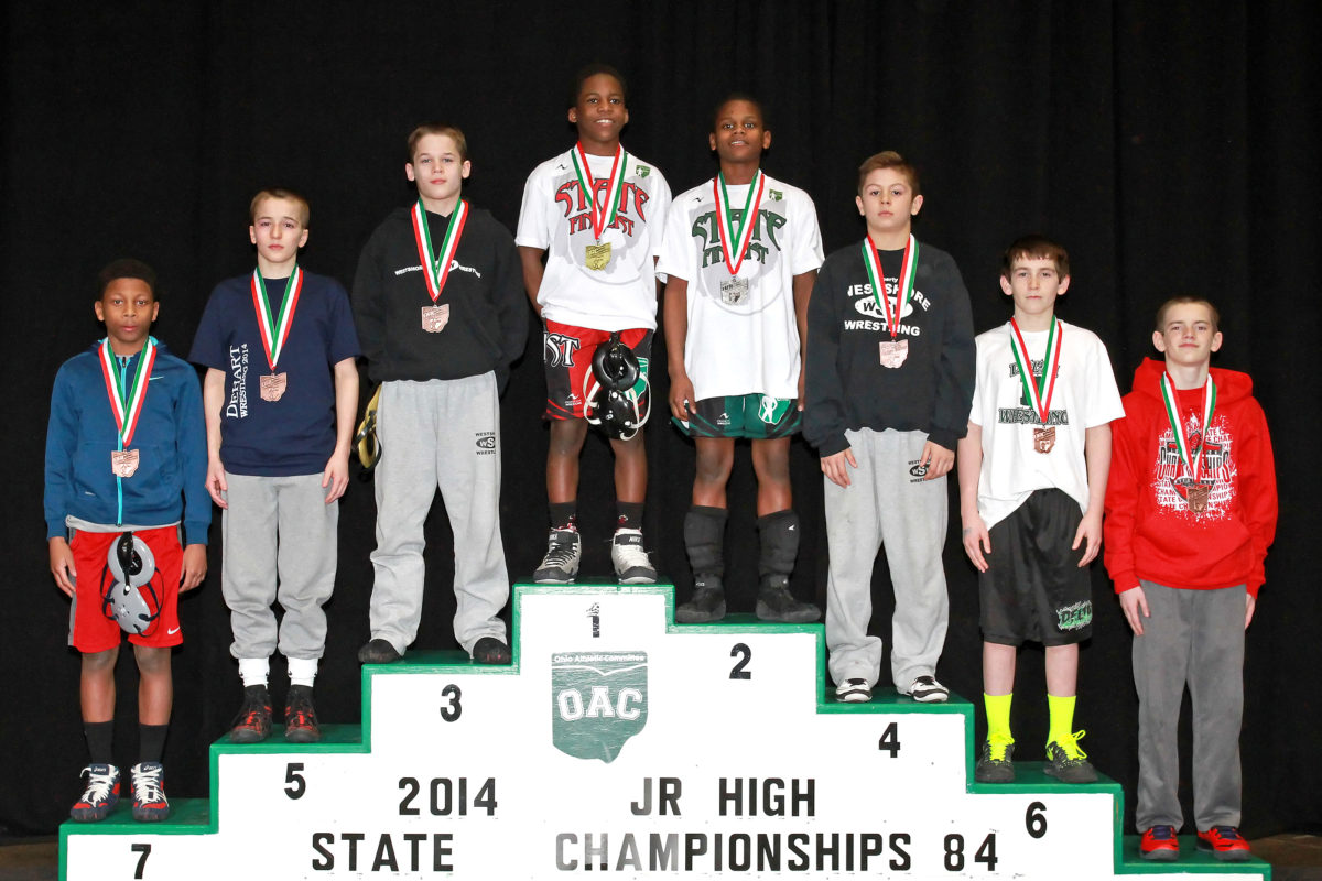 2014 Junior High State Finals 84 lbs- Manzona Bryant VS Elan Heard
