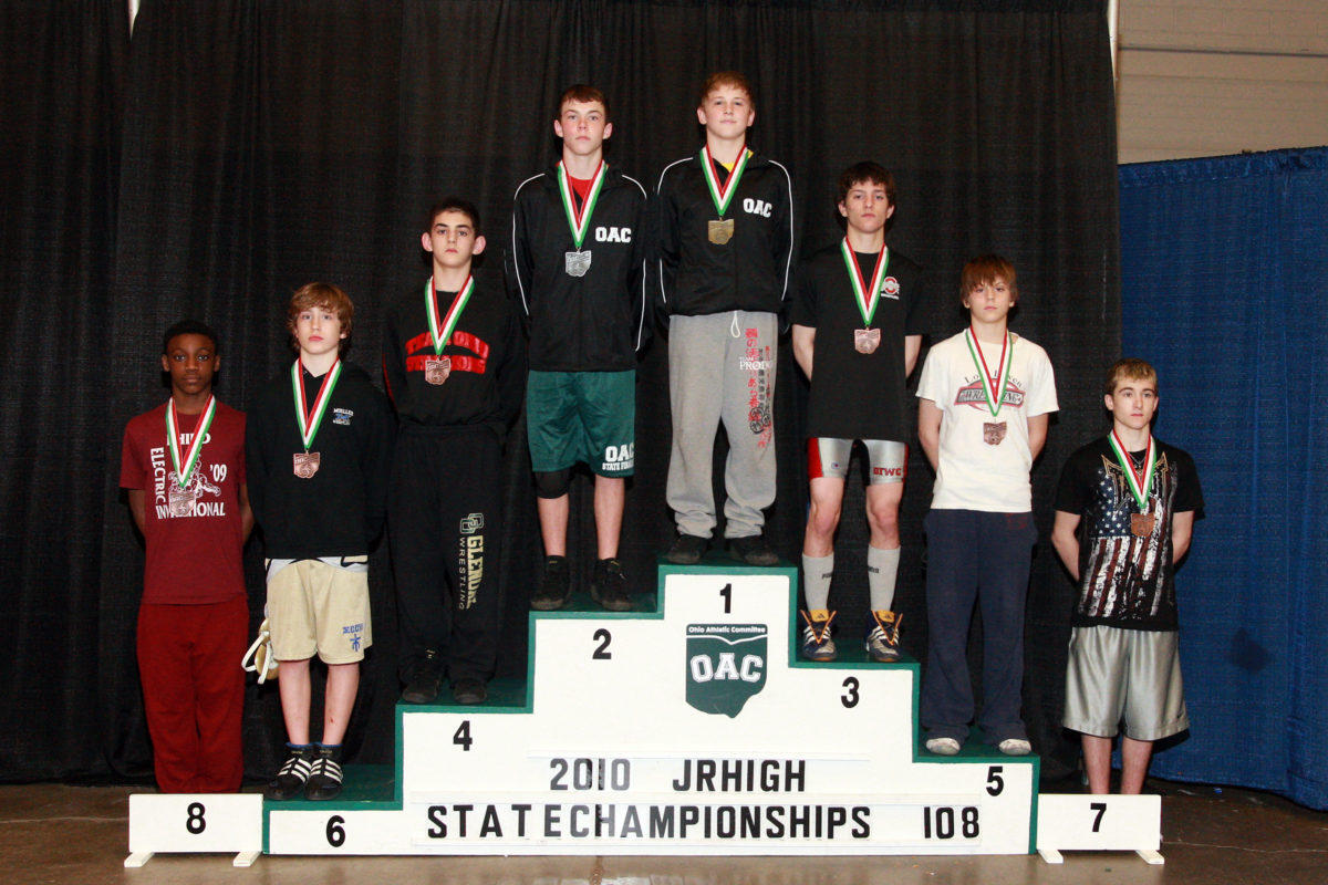 2010 Junior High State Finals 108 lbs Preston Bowshier vs Jacob Danishek