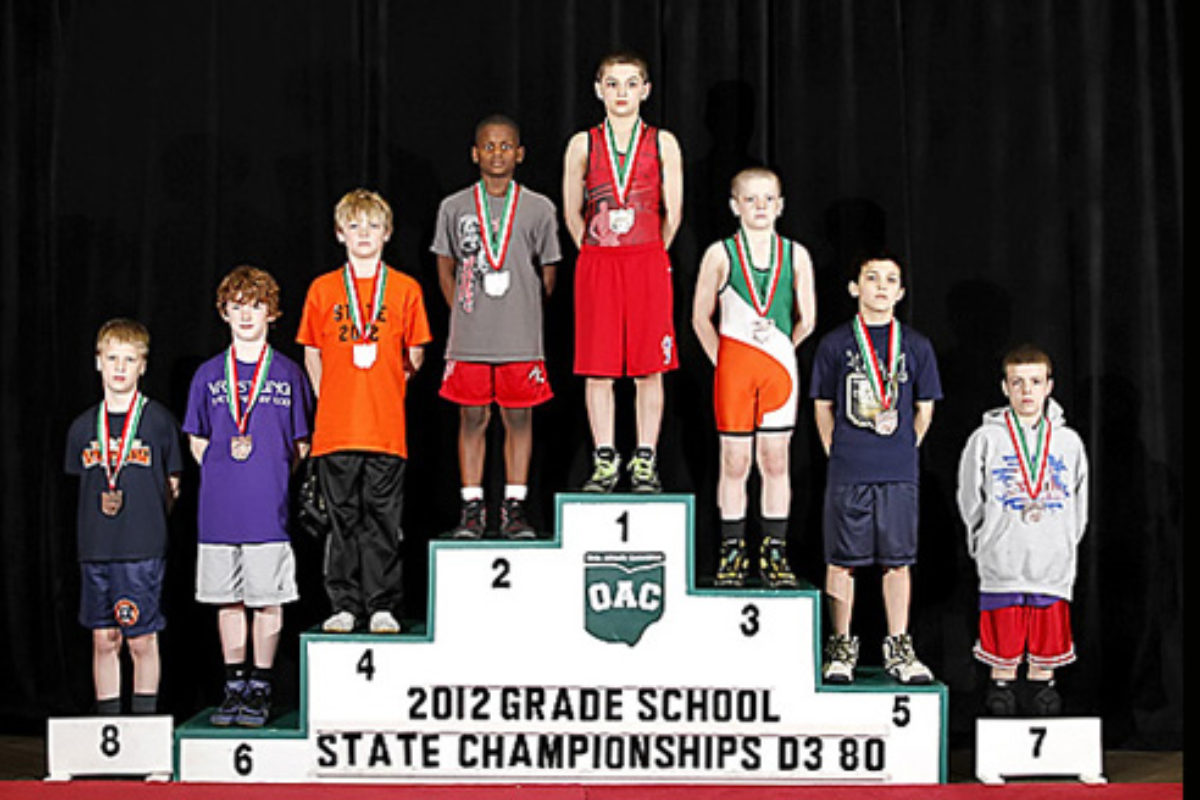2012 Grade School State- D3 80lbs-  David Cumberledge vs. Manzona Bryant