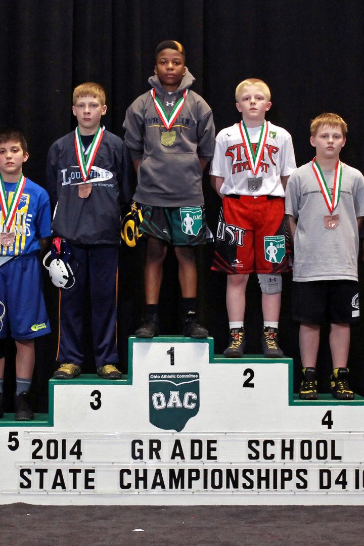 2014 Grade School State Finals- D4 100 lbs   Najee Lockett vs Victor Voinovich