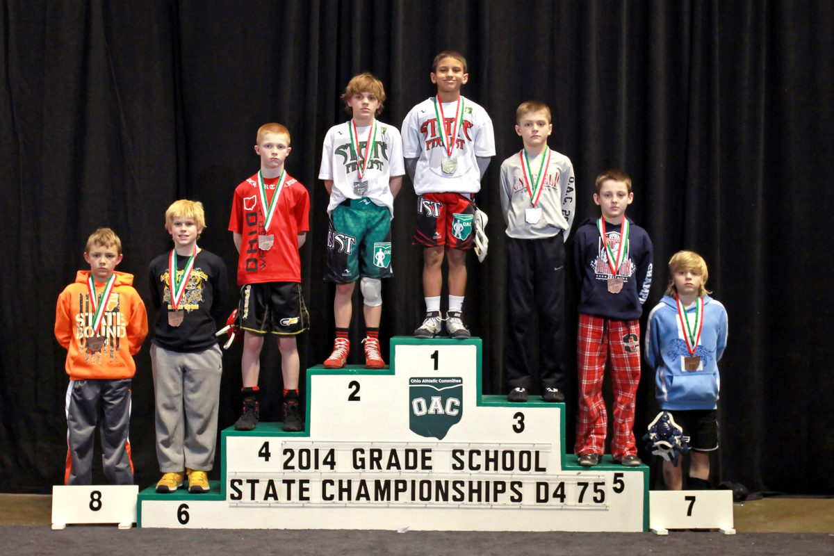 2014 Grade School State D4 75 lbs Finals Mick Burnett vs Gavin Sampsel