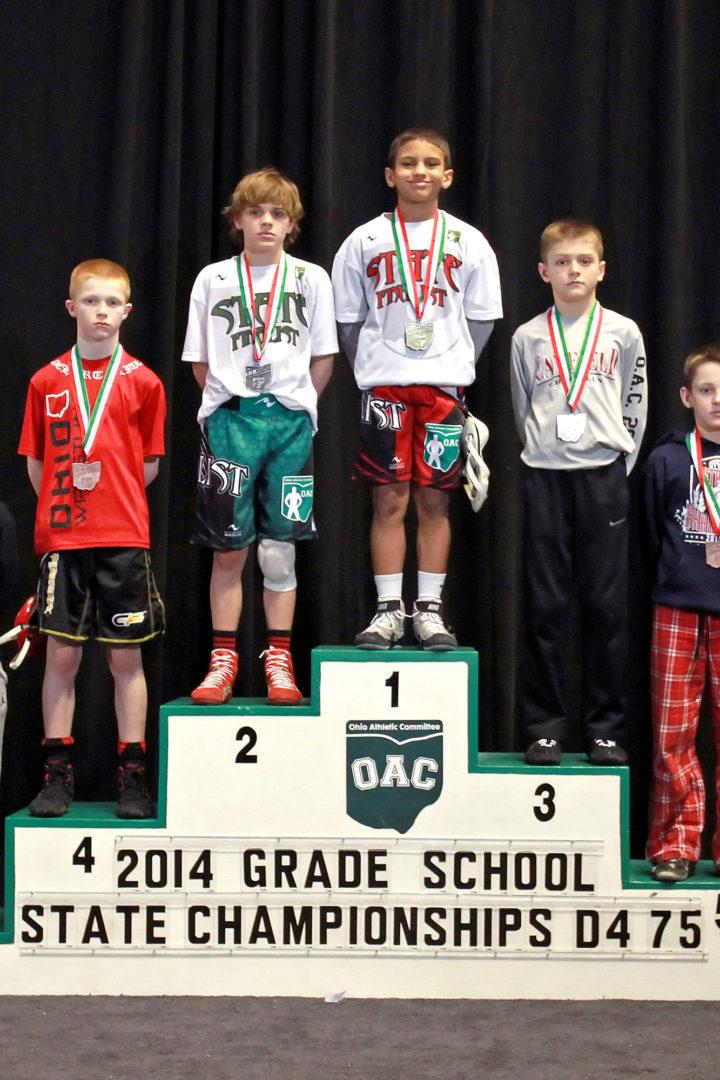 2014 Grade School State D4 75 lbs Finals Mick Burnett vs Gavin Sampsel