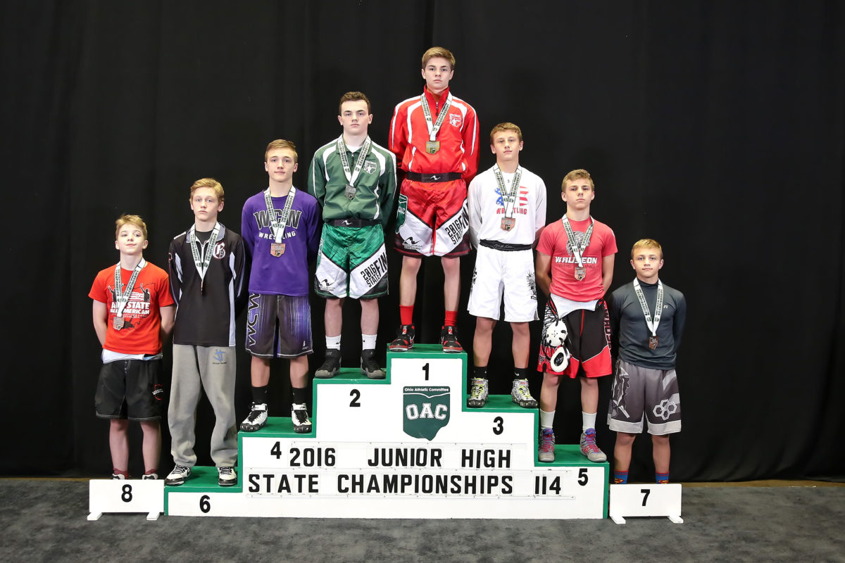 2016 Ohio Junior High State Finals 114 lbs, Nick Moore vs Dusty Morgillo