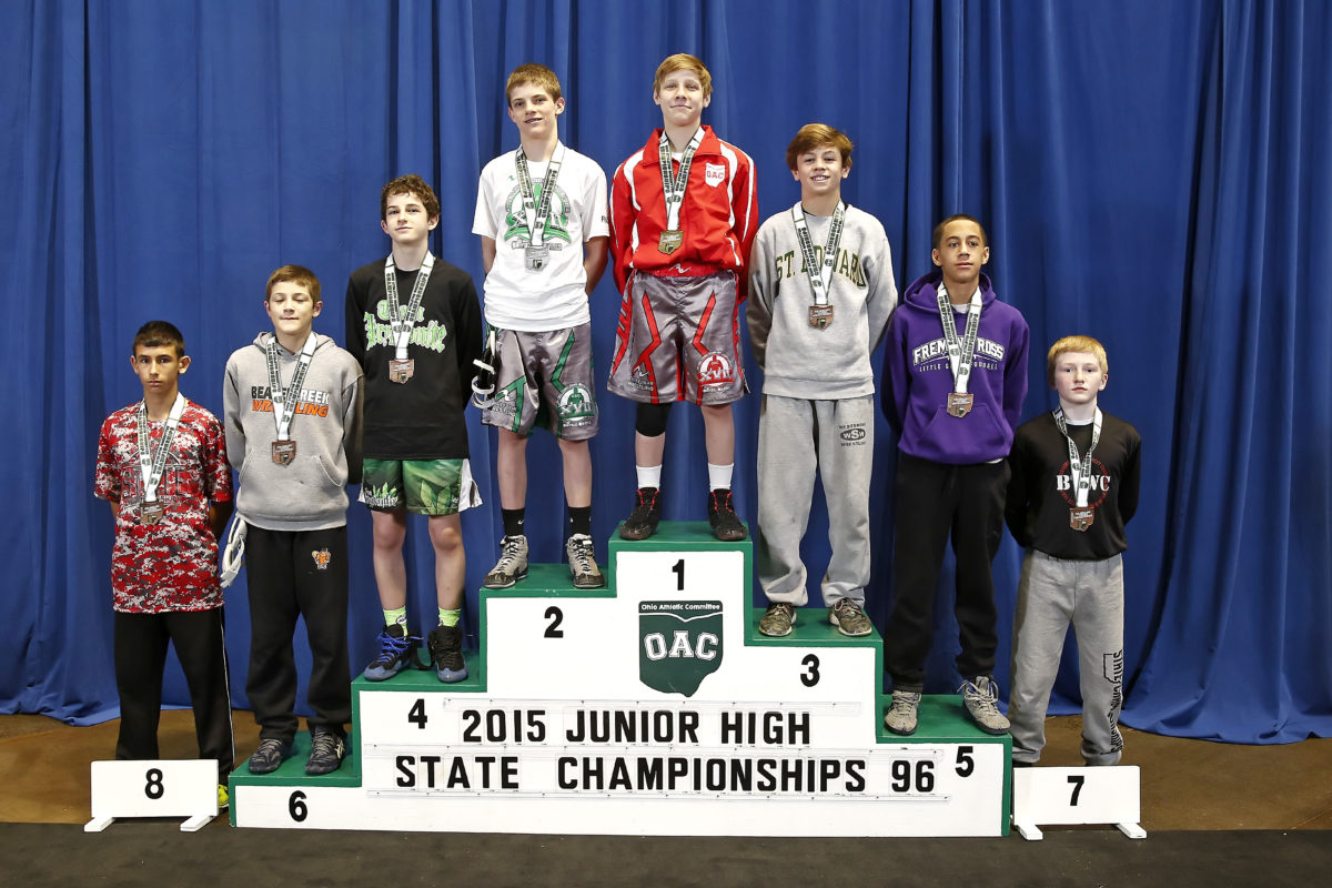 2015 Junior High State 96 lbs  Jordan Crace  vs Ben Pasiuk