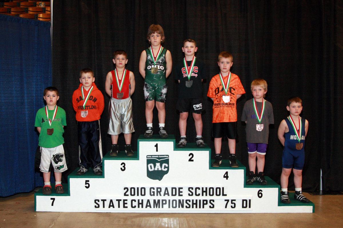 2010 Ohio Grade School State Finals 75 lbs D1 Evan Banister VS Tyler Cobb