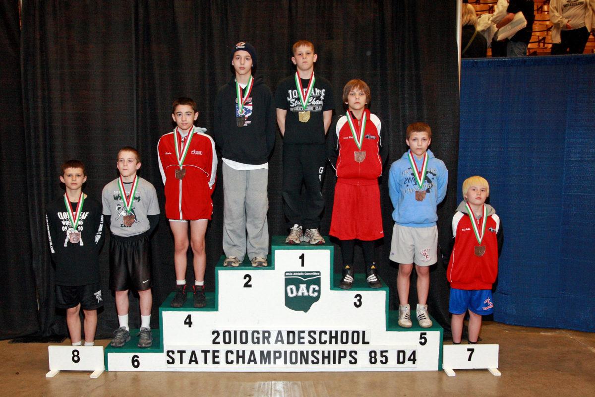 2010 Ohio Grade School State 85 lbs D4 Ben Darmstadt VS Trevor Lawson