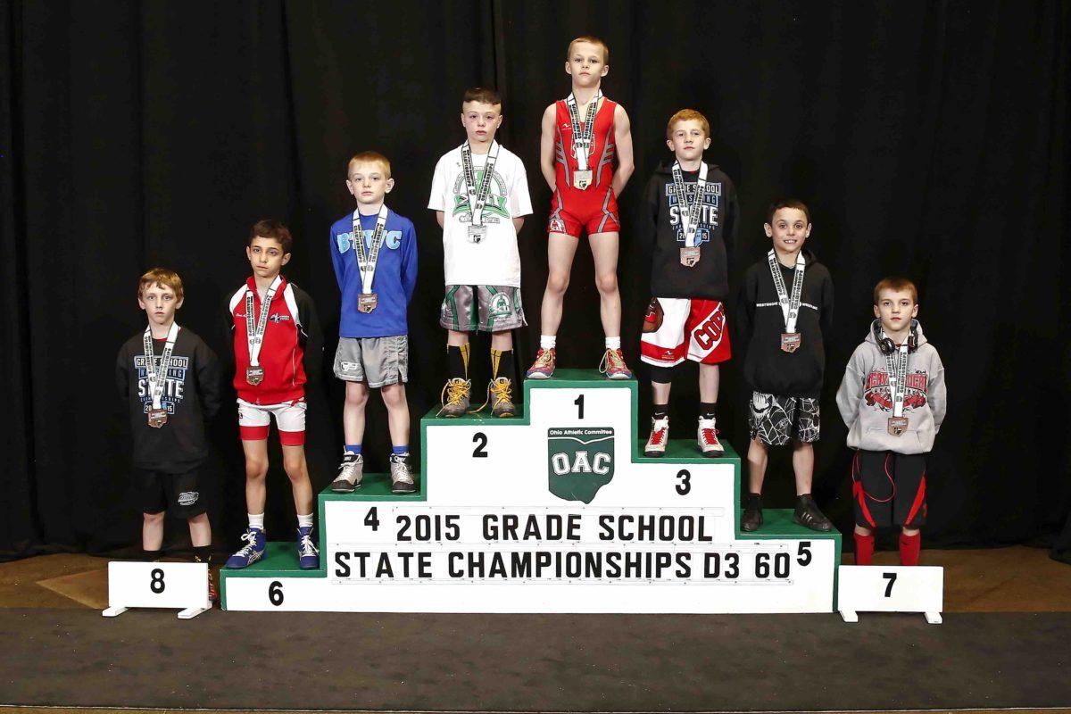 2015 Grade School State D3 60lbs Finals,  Elijah Spencer vs Patrick Reineke
