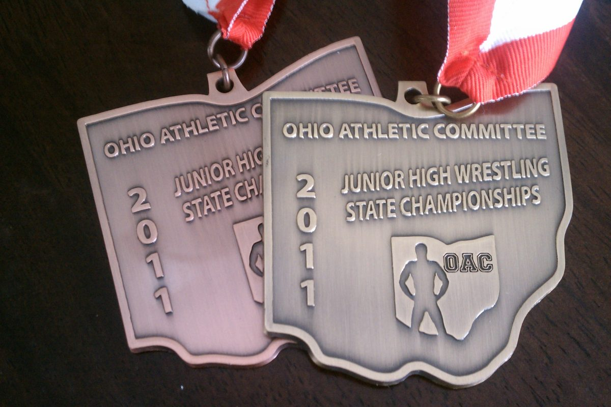 Michael May vs Jason Spencer 2011 OAC Junior High State Final 84lbs