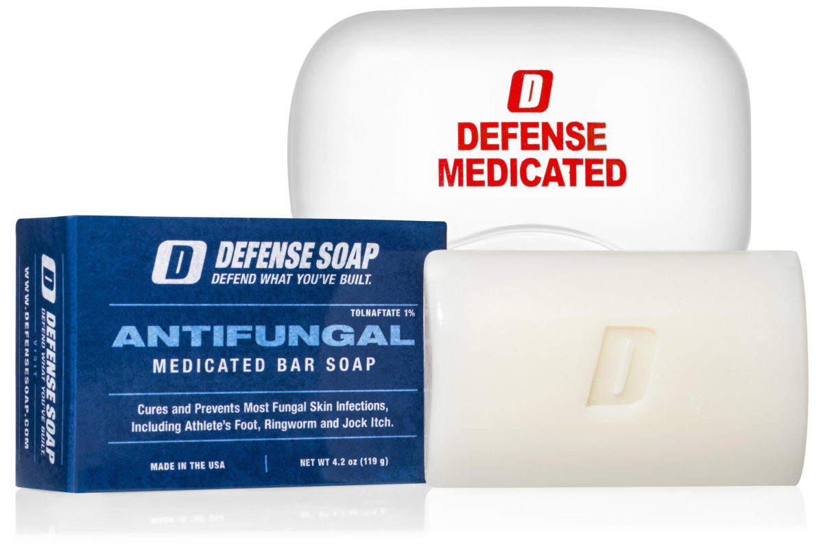 NEW! Defense Antifungal Medicated Bar Soap cleans and treats fungal infections.