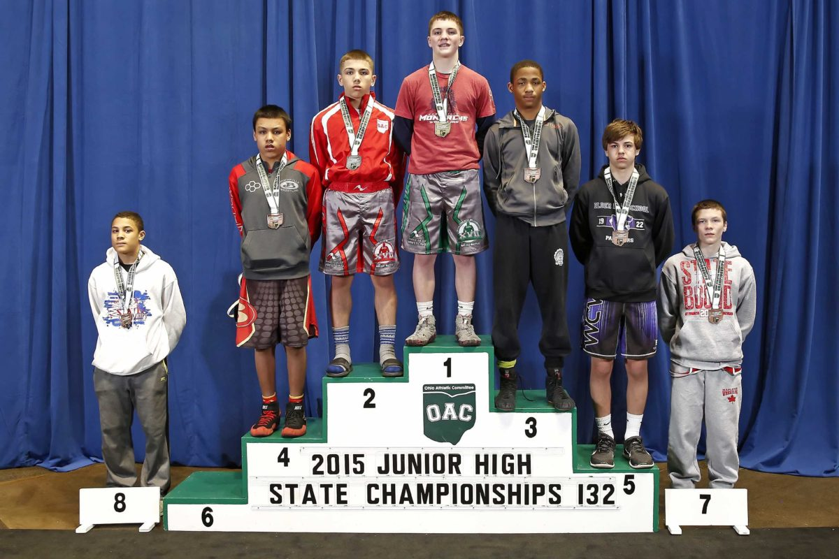 2015 Ohio Junior High State Jacob Lagoa  vs Walker Heard  132 lbs