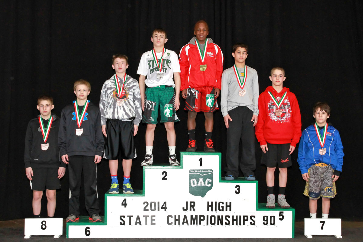 2014 Junior High State 90 lbs Final Dylan D'Emilio VS Jordan Decatur