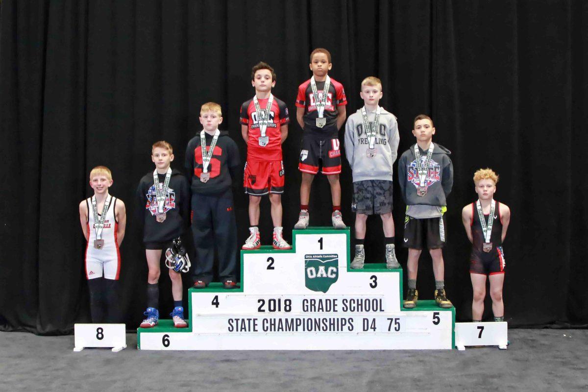 Javaan Yarbrough, vs Ryan Bennett  D4 75lbs – 2018 Grade School State