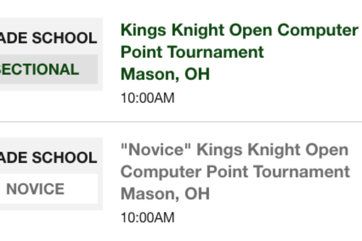 Kings Tournament Canceled