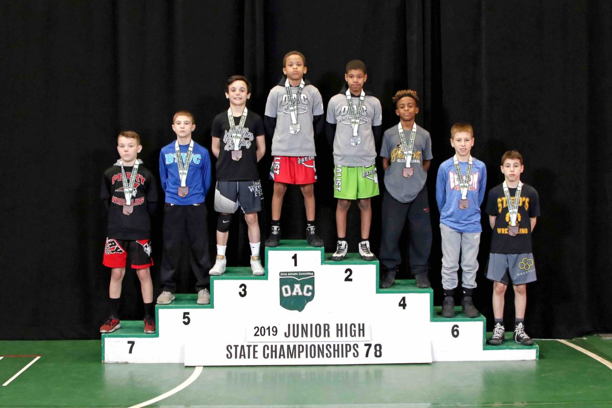 2019 78lbs Junior High State Placement Matches