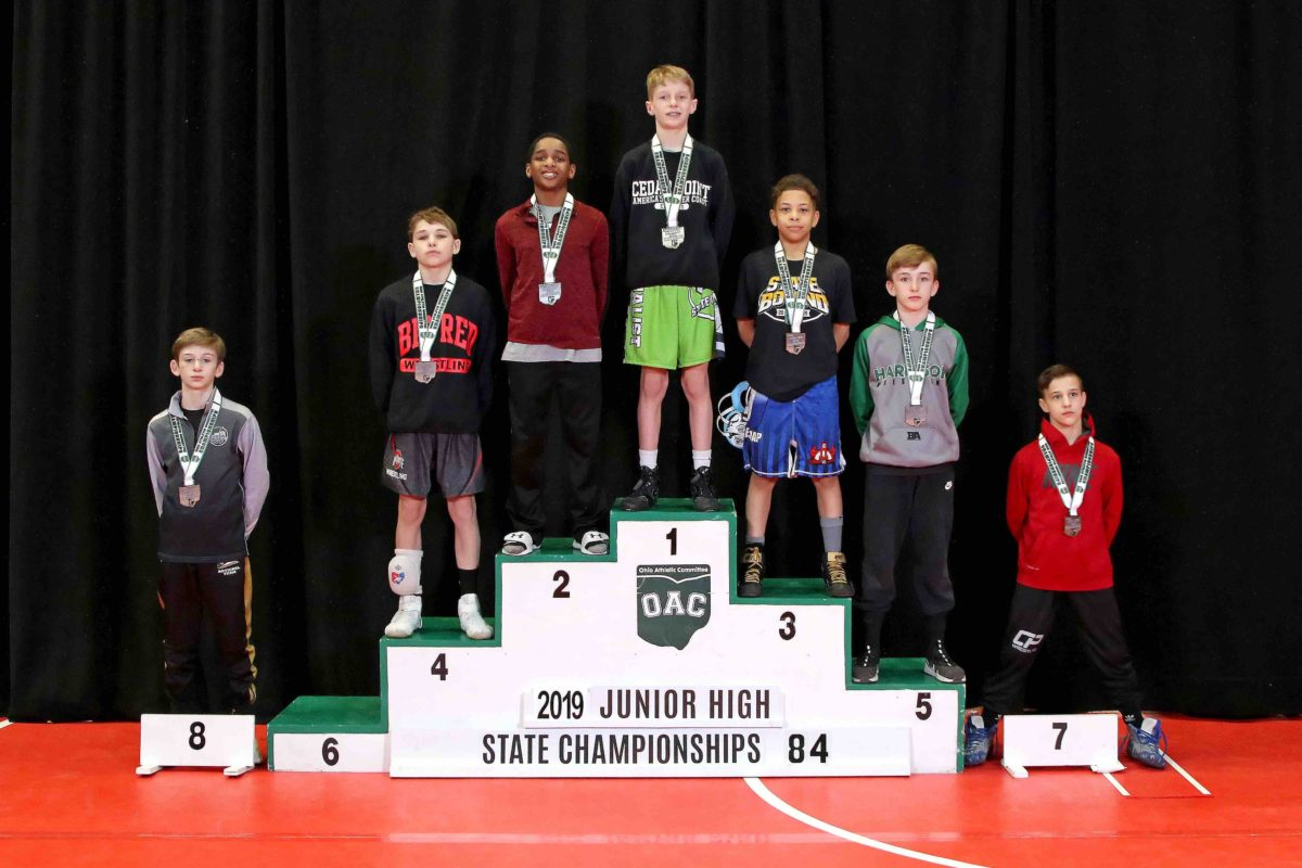 2019 84lbs Junior High State Placement Matches
