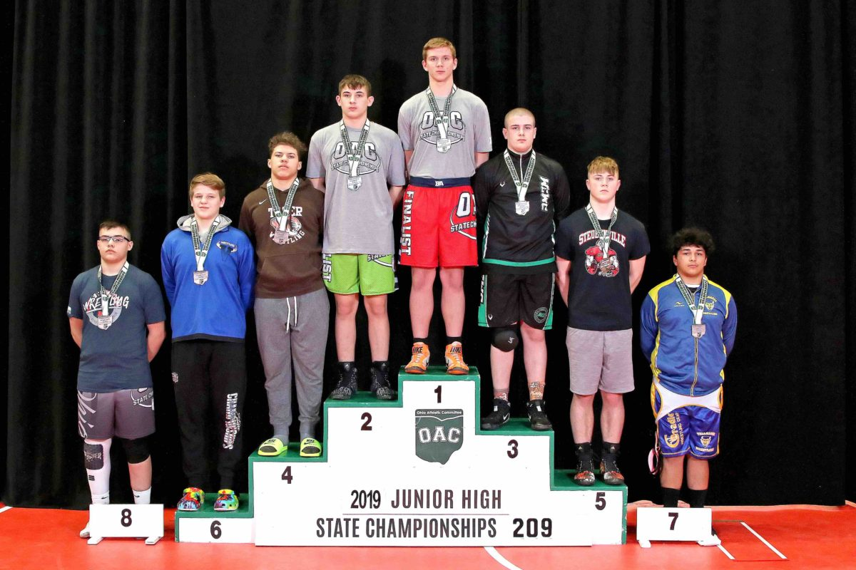Wyatt Shaw 2019 209lbs Junior High State Matches