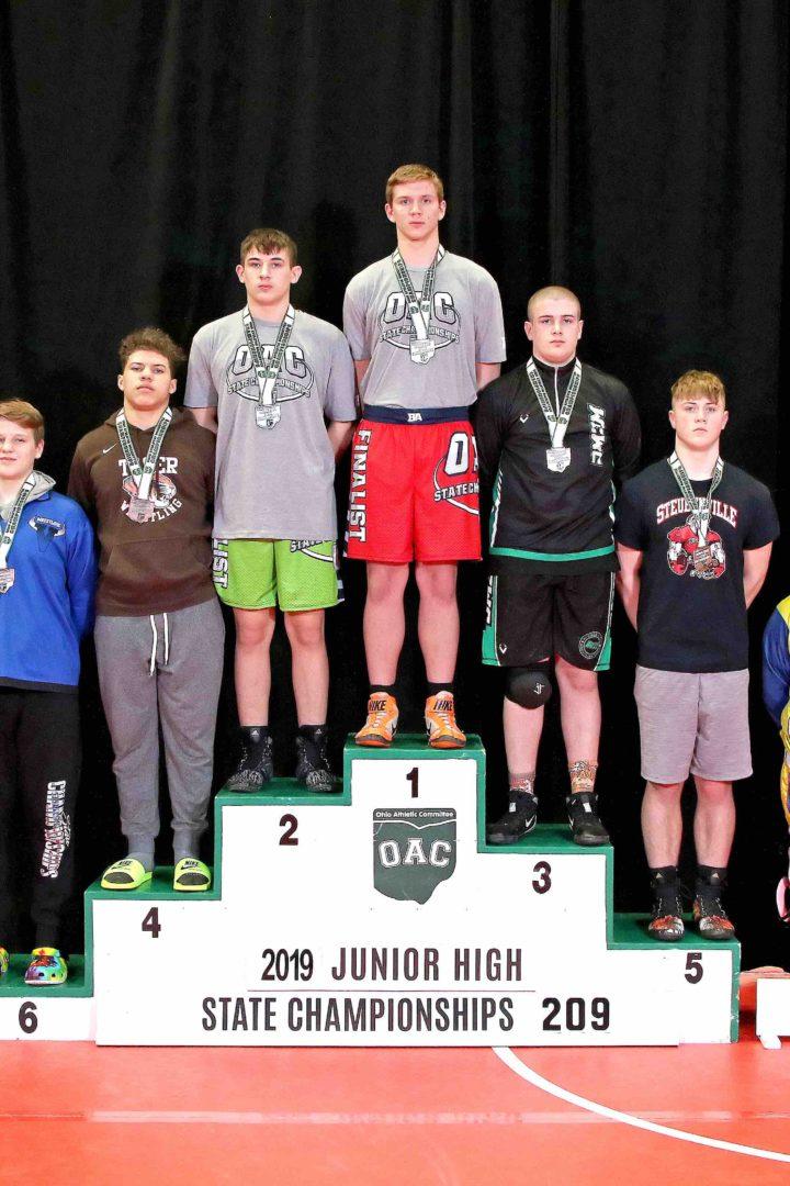 Wyatt Shaw 2019 209lbs Junior High State Matches