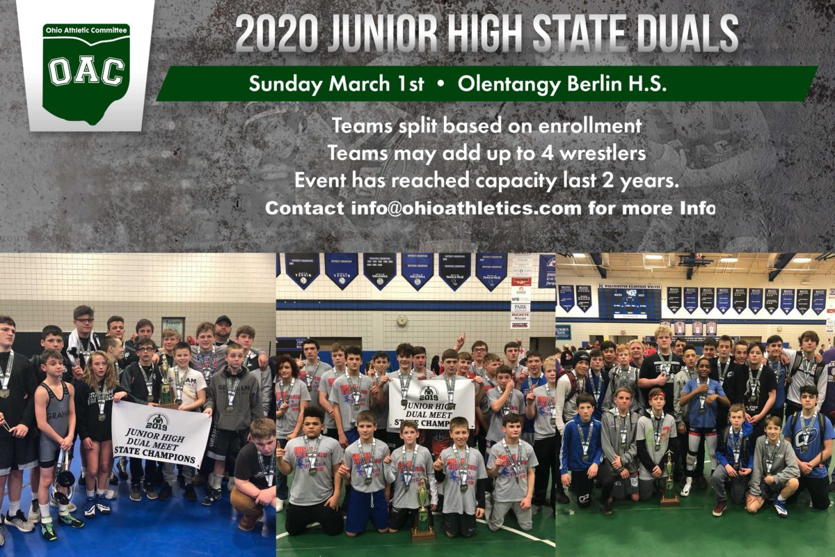 2020 Junior High State Duals