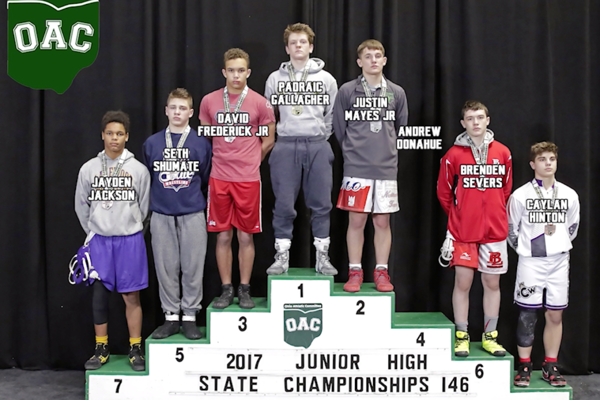 2017 Junior High State 146 lbs Finals- Paddy Gallager vs Justin Mayes
